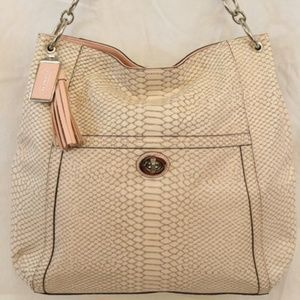 Coach Leather Park Python. Gently loved.